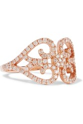 Carbon And Hyde Lace Love 14 Karat Rose Gold Diamond Ring