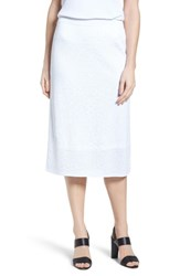 Ming Wang 'S Jacquard Knit Straight Skirt White