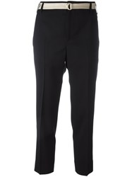 Incotex Smart Belted Trousers Black
