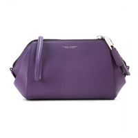 Marc Jacobs Doctor Leather Clutch Purple Nickel