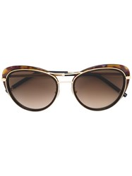 Boucheron Cat Eye Sunglasses Brown