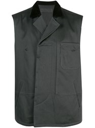 Haider Ackermann Quilted Contrasting Collar Vest 60