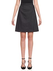 Carolina Herrera A Line Button On Waist Skirt Dark Grey