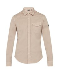 Belstaff Steadway Stretch Cotton Twill Shirt Pink
