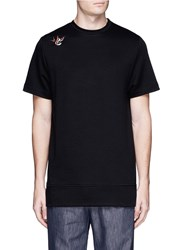 Tim Coppens Bird And Devil Embroidered Patch T Shirt Black