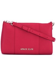 Armani Jeans Zipped Shoulder Bag Women Polyurethane One Size Red