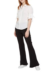 French Connection Glass Stretch Boot Cut Trousers Black
