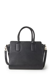 Forever 21 Structured Faux Leather Satchel Black