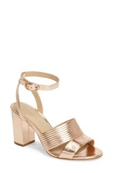 Etienne Aigner Layla Ankle Strap Sandal Rose Leather