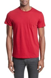 Belstaff Men's New Thom Heritage Jersey T Shirt Racing Red