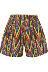 M Missoni Printed Cotton Blend Shorts Yellow
