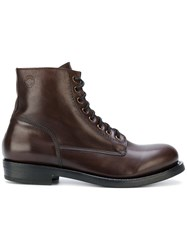 Buttero Lace Up Ankle Boots Men Calf Leather Leather Rubber 40 Brown