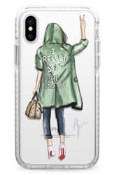 Casetify I Really Don't Care Iphone X Case Green