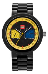 Lego 'Two By Two' Bracelet Watch 42Mm Black Yellow