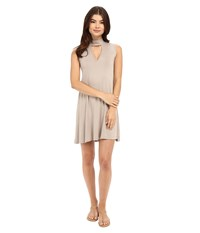 Culture Phit Ashlynn High Neck Dress Mocha Women's Dress Brown