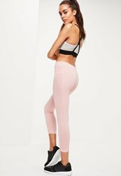 Missguided Active Pink Cropped Seamfree Sports Leggings