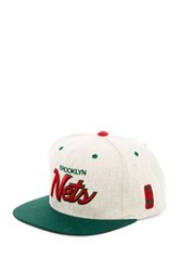Mitchell And Ness Brooklyn Nets Brushed Heather Holiday Snapback Gray