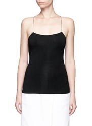 Alexander Wang Cutout Back Modal Jersey Cami Top Black