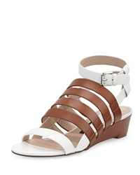 French Connection Winona Caged Wedge Sandal Tan Summer White