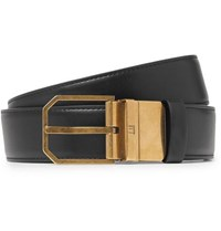 Dunhill 3.5Cm Black And Tan Reversible Leather Belt