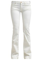 7 For All Mankind Charlize Bootcut Jeans Milk White Denim