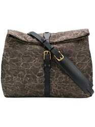 Mismo Printed Shoulder Bag Brown