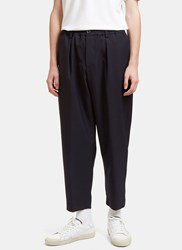 Marni Wide Leg Wool Pants Navy