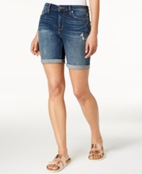 Calvin Klein Jeans City Ripped Denim Shorts Phoenix Blue