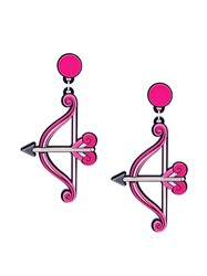 Yazbukey 'Bow And Arrow' Earrings Pink And Purple