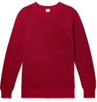 Aspesi Slim Fit Cotton Sweater Red