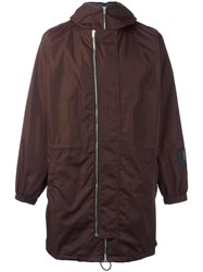 Mcq By Alexander Mcqueen Hooded Parka Red
