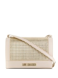 Love Moschino Laminated Shoulder Bag Neutrals