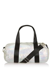 Topshop Metallic Gym Bag Silver