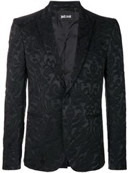 Just Cavalli Brocade Blazer Black