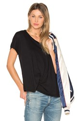 Bobi Light Weight Jersey Asymmetrical Tee Black