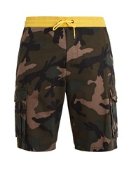 Valentino Camouflage Print Cotton Shorts