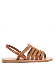 K. Jacques Homere Leather Sandals Tan