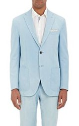Luciano Barbera Bleached Two Button Sportcoat Blue