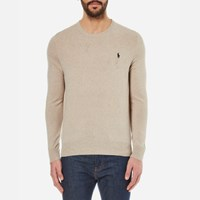 Polo Ralph Lauren Men's Crew Neck Merino Wool Knitted Jumper Oatmeal Cream