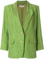 Yves Saint Laurent Vintage Two Button Blazer Green