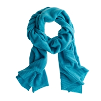 J.Crew Collection Cashmere Ribbed Scarf Hthr Fresco