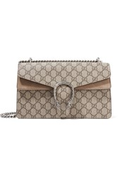 Gucci Dionysus Small Coated Canvas And Suede Shoulder Bag Beige