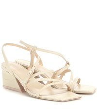 Mercedes Castillo Kelise Leather Sandals Beige