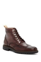 Rush By Gordon Rush Wingtip Lace Up Boot Gray