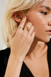 Urban Outfitters Delicate Druzy Ring Set Gold