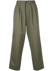 E. Tautz Loose Fit Chinos Cotton Green