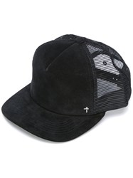 Rta Suede Mesh Cap Men Suede Polyester One Size Black