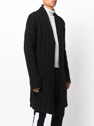 Lost And Found Rooms Knitted Cardigan Men Acrylic Wool Alpaca M Black