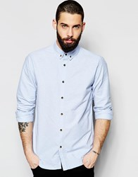 Only And Sons Oxford Shirt Blue