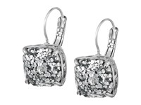 Kate Spade Small Square Leverbacks Silver Glitter Silver